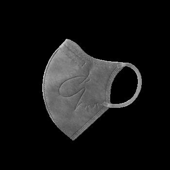 :dc 克微粒® 立體口罩 (成人) - 灰色灰耳帶 6 片 / 盒